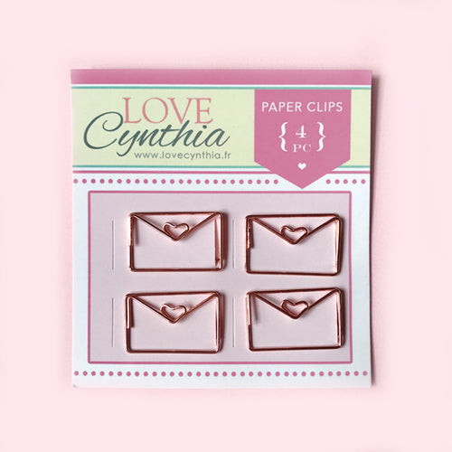 Happy Mail Paper Clip Set - Rose Gold