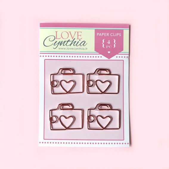 Camera Paper Clip Set - Rose Gold