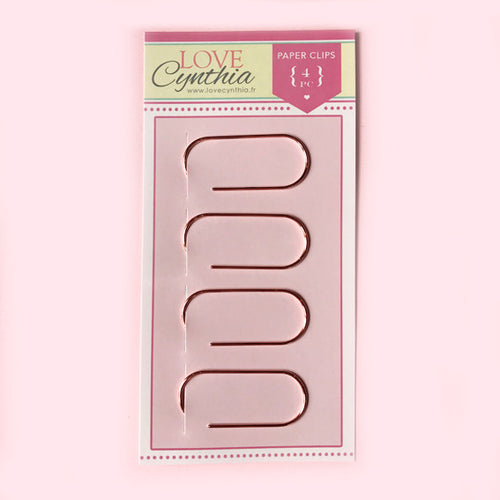Retro Big Paper Clip Set - Rose Gold