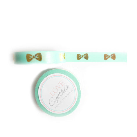 Bow Gold Foil Washi Tape