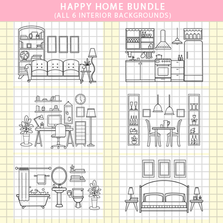 HAPPY HOME - BUNDLE of 6
