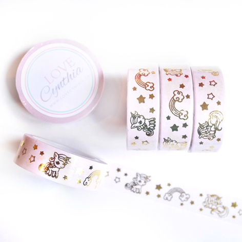 Unicorn Gold Foil Washi Tape