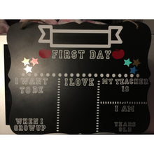 School first day Chalkboard