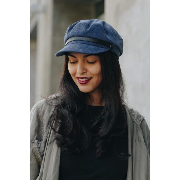 French Corduroy Newsboy Hat