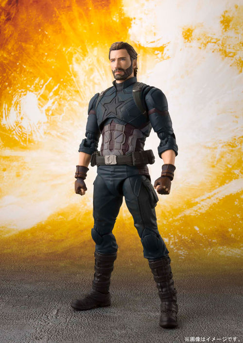 "SH Figuarts ""Avengers: Infinity War"" Captain America & Tamashii Effect Explosion"