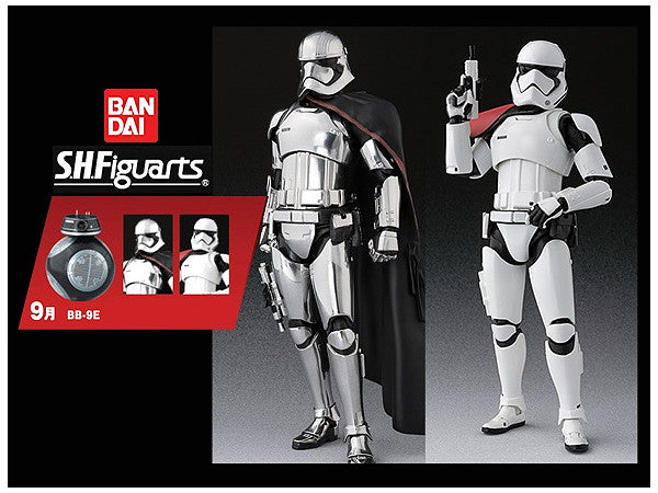SH Figuarts Stormtrooper & Captain Phasma with BB-9E