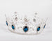 "Pageant 3.5"" Full Circle Tiara Blue Crystal Crown - headpiece - Euphoria's"