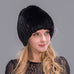 Mink Rabbit Fur Cap - Hat - Euphoria's