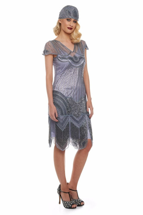 Beatrice Fringe Flapper Dress in Purple Lilac - Dress - Euphoria's