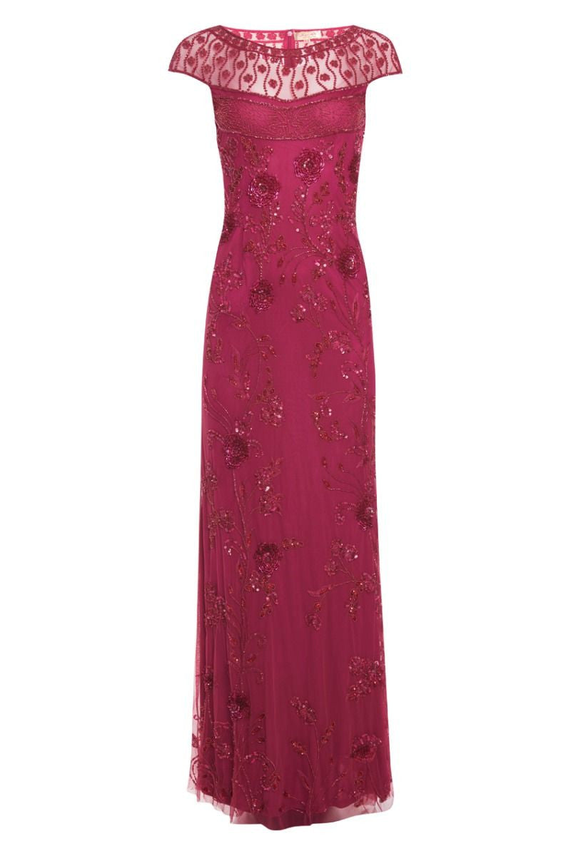 Elizabeth Raspberry Maxi Dress - Dress - Euphoria's