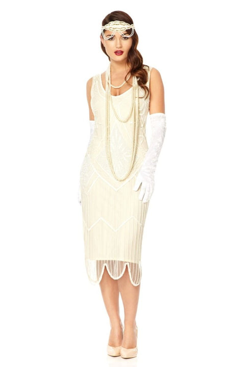 Evelyn Off White Dress - Dress - Euphoria's