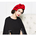 Wool Bowknot Beret - Red - Hat - Euphoria's