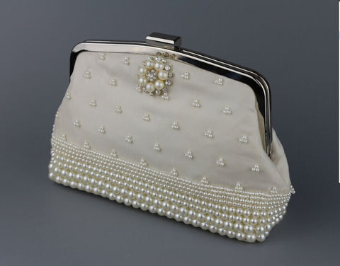 Flapper Clutches Linen Beaded Hand Bag - Hand Bag - Euphoria's