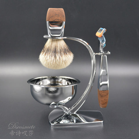 Chrome & Badger Hair Shaving Set - black - Shaving Kit - Euphoria's