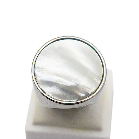 White Opal Stainless Steel Ring - Ring - Euphoria's
