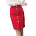 High Waist Open Fork Button Skirt - Skirt - Euphoria's