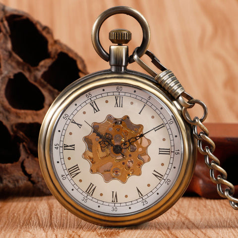 Roman Numeral Faced Pocket Watch - Pocket Watch - Euphoria's