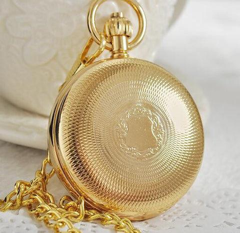 Gold Radiant Dual Display Pocket Watches - Pocket Watch - Euphoria's