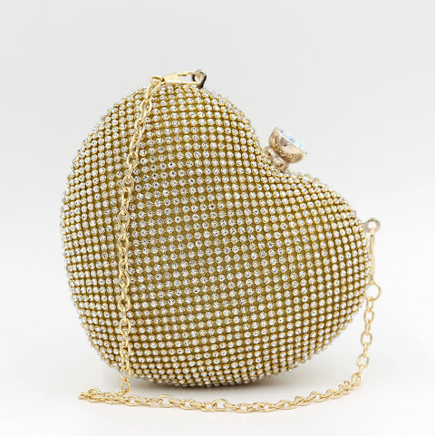 Diamond Heart-shaped Hand Bag - Hand Bag - Euphoria's