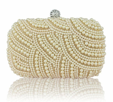 Luxury Crystal & Pearlized Day Clutch Evening Bag - Hand Bag - Euphoria's