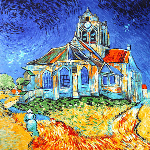 Van Gogh Church Inspired Scarf - Scarf - Euphoria's