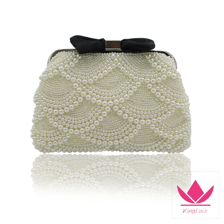 Hard Top Shell Pearl Evening Hand Bag - Hand Bag - Euphoria's