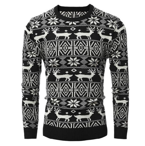 Loldeal Winter Deer Sweater Black - Wool Sweater - Euphoria's