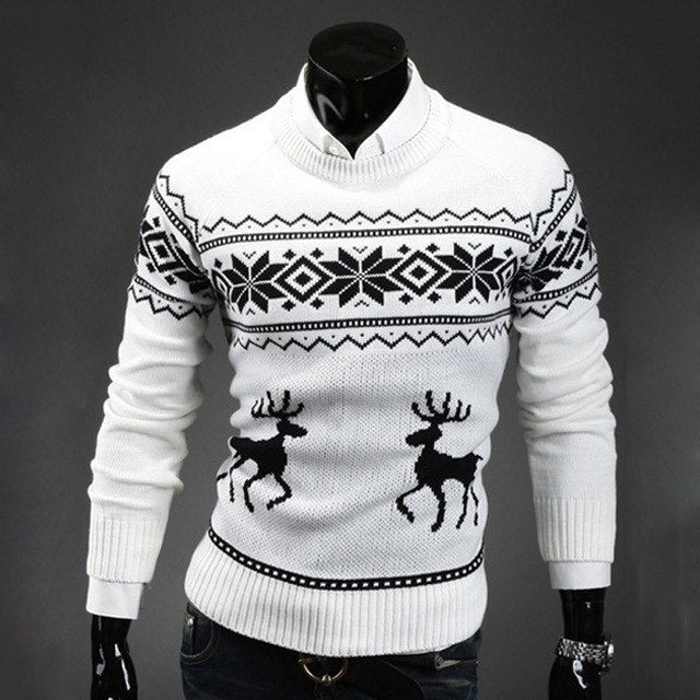 Loldeal Winter Deer Sweater White - Wool Sweater - Euphoria's