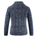 Blue Cardigan Sweater - Wool Sweater - Euphoria's
