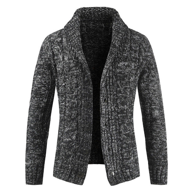 Gray Cardigan Sweater - Wool Sweater - Euphoria's