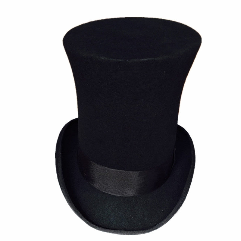 Wool Top Hat (9.8 Inch ) Black - Hat - Euphoria's