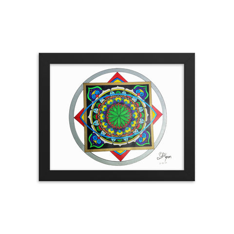 Flower Sight Framed poster