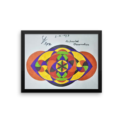 """Abstracted Observation"" Framed poster"