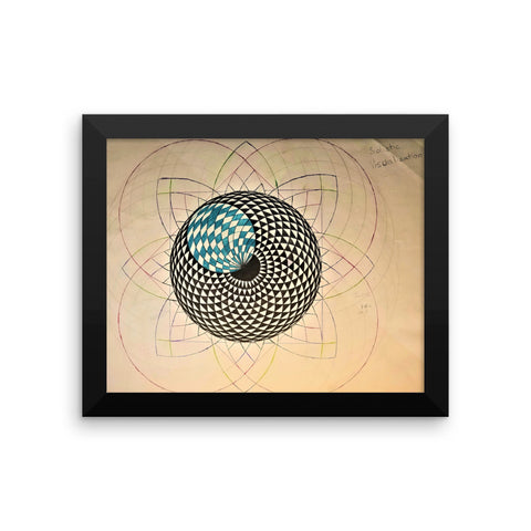 """Solistic Visualization"" Framed poster"