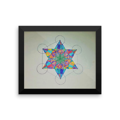 """Metatron's Spectrum"" Framed poster"