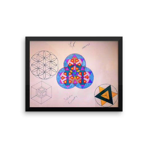 """Solistic Symmetry"" Framed poster"