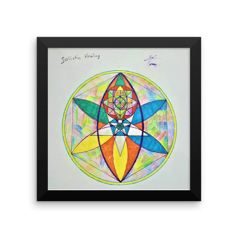 """Solistic Healing"" Framed poster"