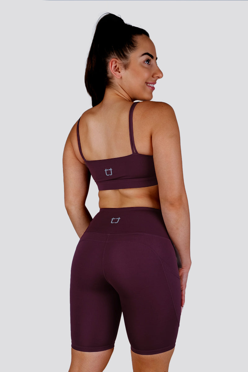 Boost  Sports Bras - Wine