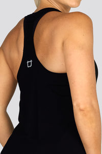 Basic T-Back Tank Top - Black