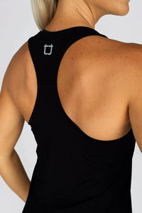 Basic Racerback Tank Top - Black