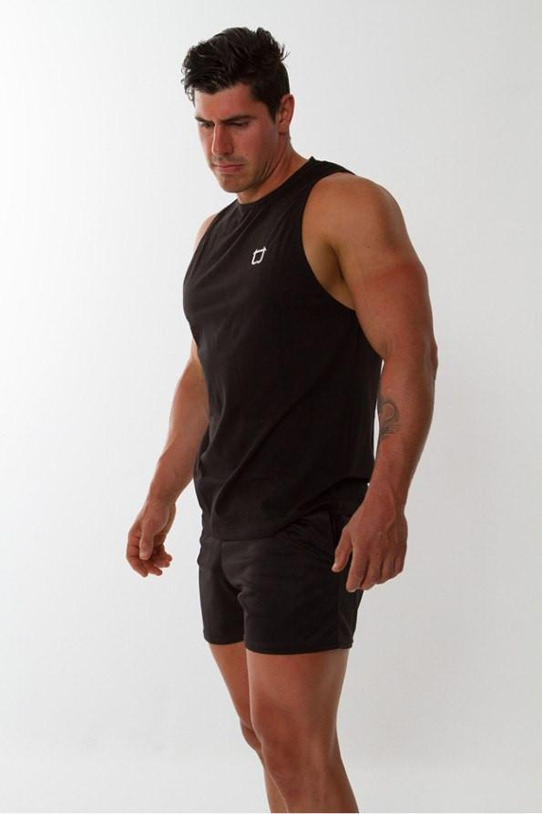Twotags Muscle Tank – Black