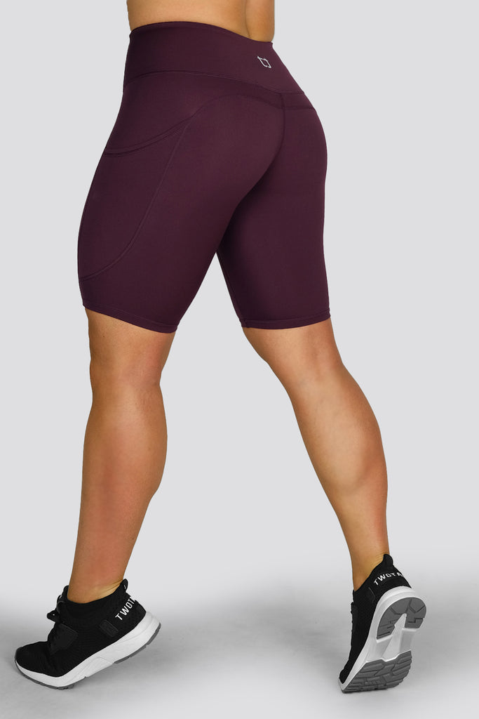 Boost Biker Shorts - Wine
