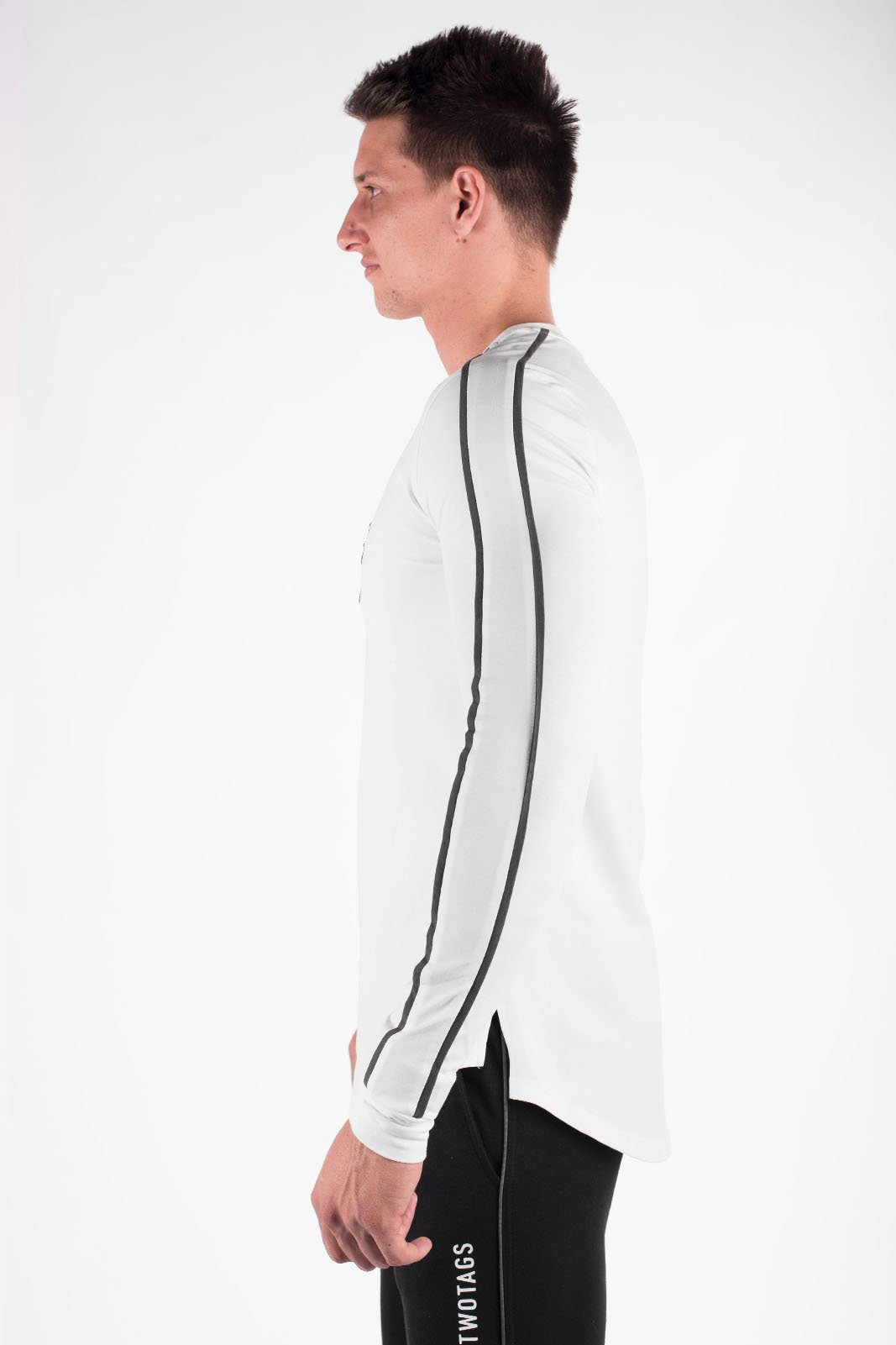 Twotags Verve Long Sleeve T-Shirt - White