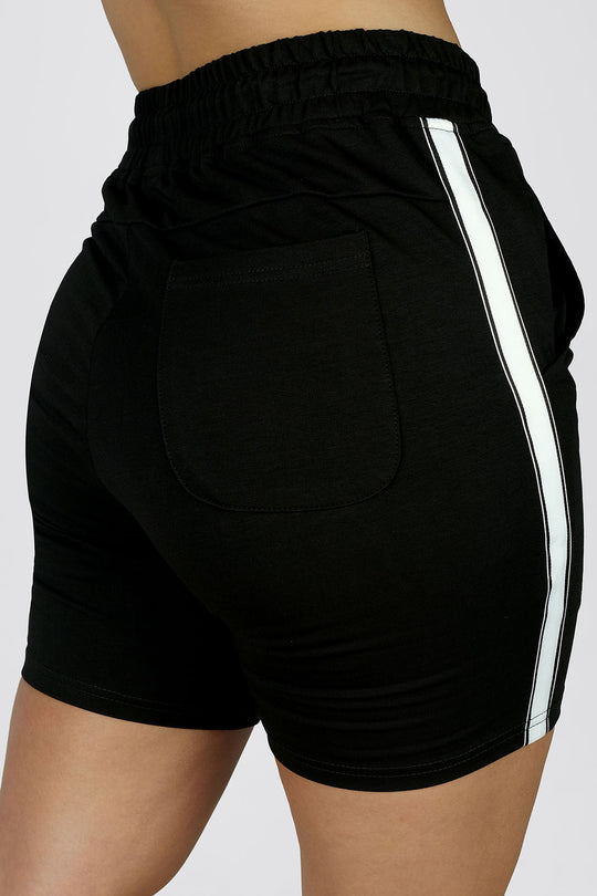 Ladies Morale Shorts - White Stripe