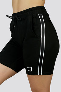 Ladies Morale Shorts - Black Stripe