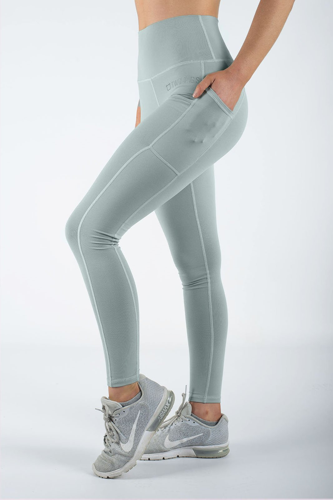 Twotags Ladies Highwaisted Core V2 Leggings – Mint