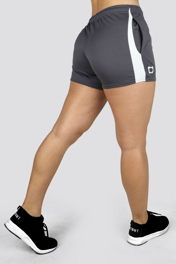 Ladies Dry+ V4 Shorts - Charcoal Grey