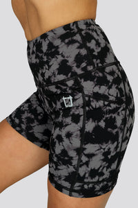 Duende Mid Biker Shorts  - Licorice Black