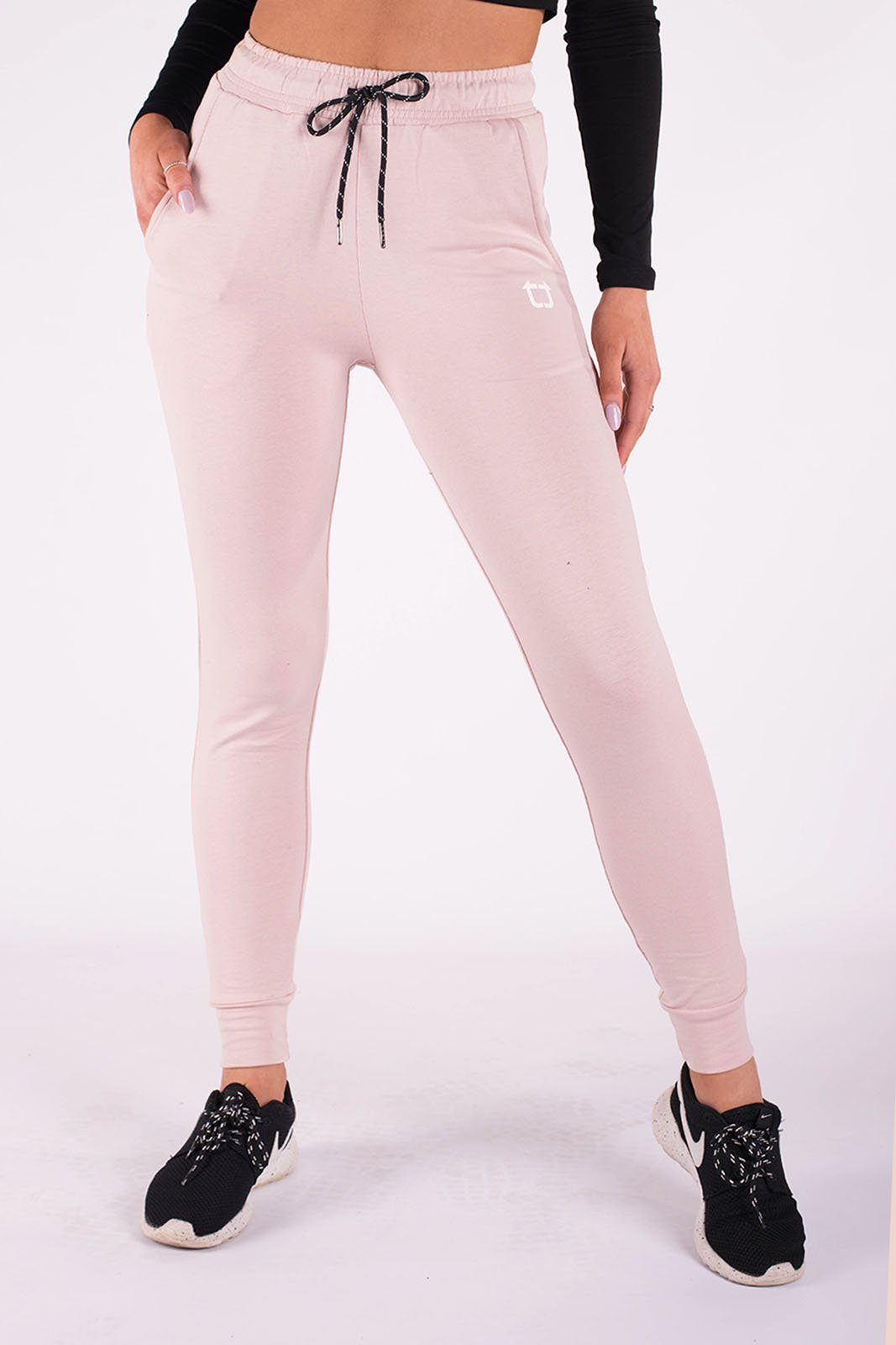 Twotags Ladies Highwaisted Original Jogger – Blush