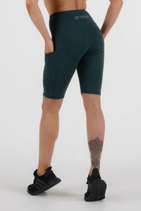 Balance Highwaisted Biker Shorts - Emerald